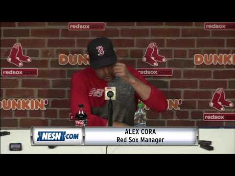 Alex Cora Happy With Red Sox's Comeback Win Against Athletics