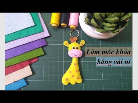 Handmade| Làm móc khóa bằng vải nỉ đơn giản #8