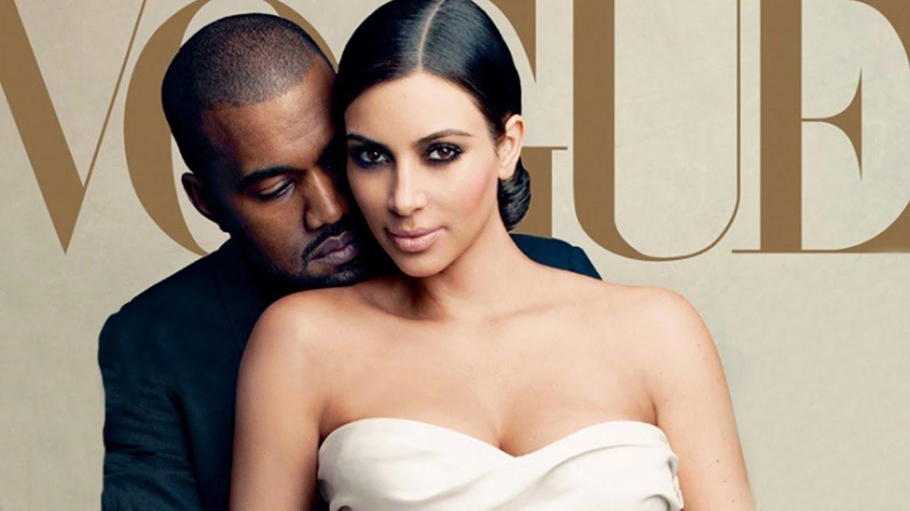 Kim Kardashian & Kanye West Cover VOGUE Magazine Featuring Baby