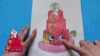 "How to Draw Shopkins Season 3 ""Wendy Wedding Cake"" Step By Step Easy 
