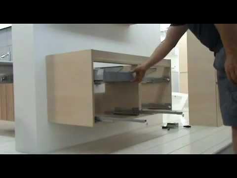 badkamermeubels alke monteren lade en binnenlade youtube