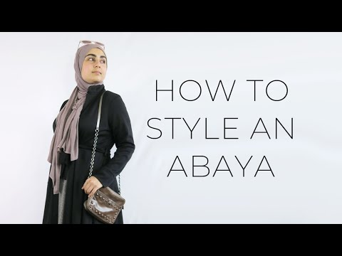 HOW TO STYLE AN ABAYA : MODEST FASHION TIPS - YouTube