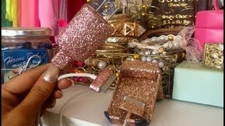Gambar cover ♡How To Bedazzle Your Phone Case, Charger Or Cord♡Glitter Glam DIY♡