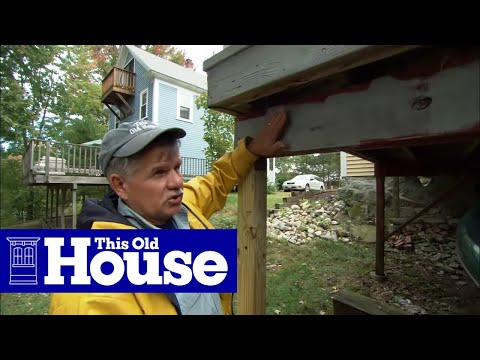 How To Replace A Deck Post This Old House Youtube