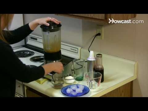 How to make a frappe using a blender