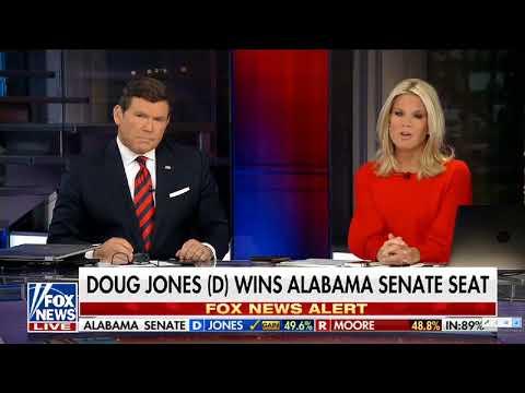 Fox News Reacts to Doug Jones Defeating Roy Moore in Alabama