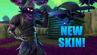 NEW RAVEN SKIN & FEATHERED FLYER GLIDER! NEW SKINS GAMEPLAY ON FORTNITE! (FORTNITE BATTLE ROYALE)