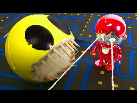 Tag With Ryan Escape From Monster Pacman !!!