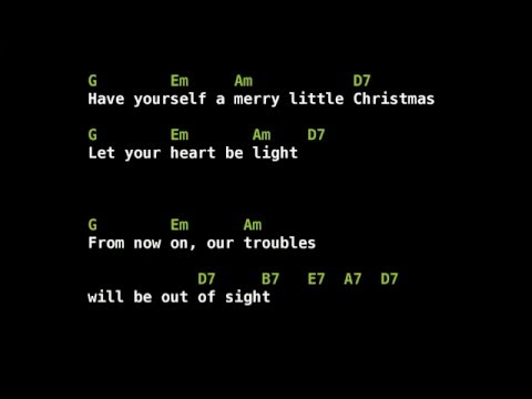 Have Yourself A Merry Little Christmas Chords Youtube