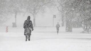 April snow blankets Chicago
