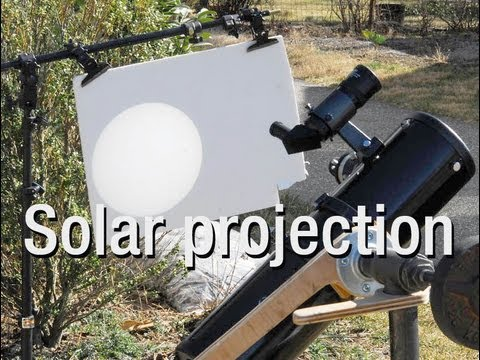 a solar projection thru my telescope. -