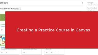 Creating a Practice Course in Canvas