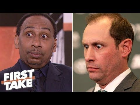Stephen A. impersonates Adam Gase's eyes from his Jets press conference | First Take