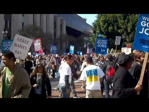 Bank Transfer Day march in Los Angeles