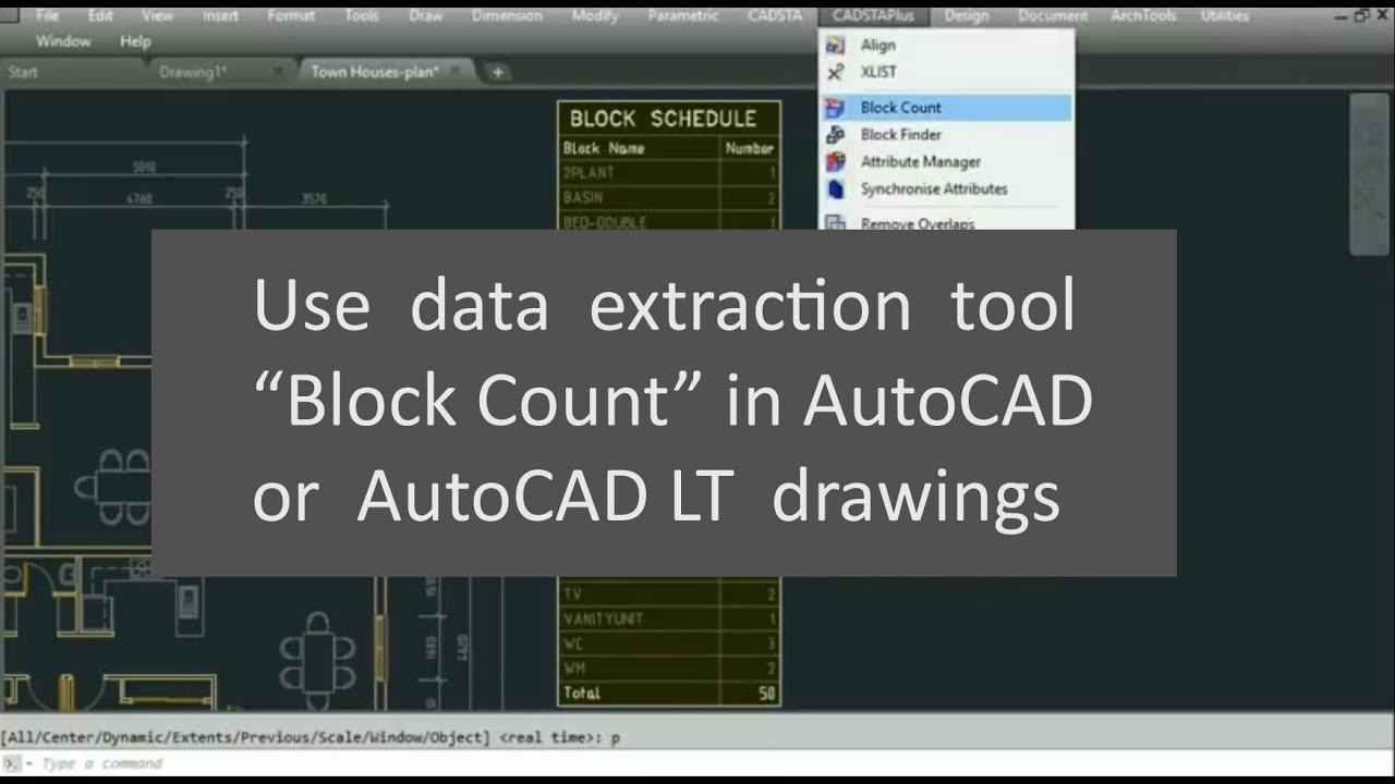 Use data extraction tool Block Count | AutoCAD | AutoCAD LT
