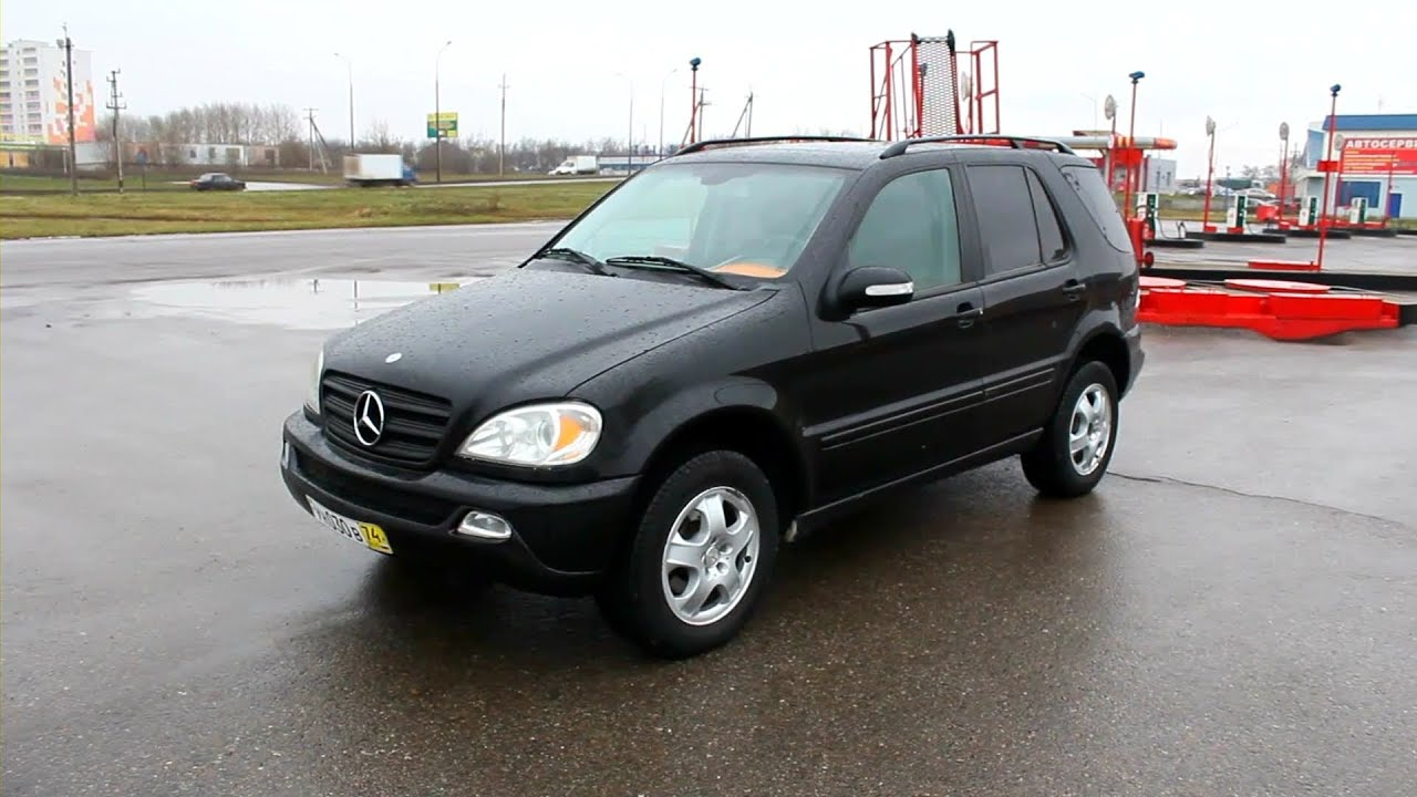 2002 mercedes benz ml 320 w163 start up engine and in. Black Bedroom Furniture Sets. Home Design Ideas