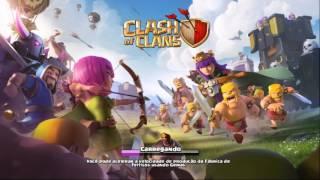 Clash of clans Fazendo ataque e mostrando me clan entre no meu clan para ajuda