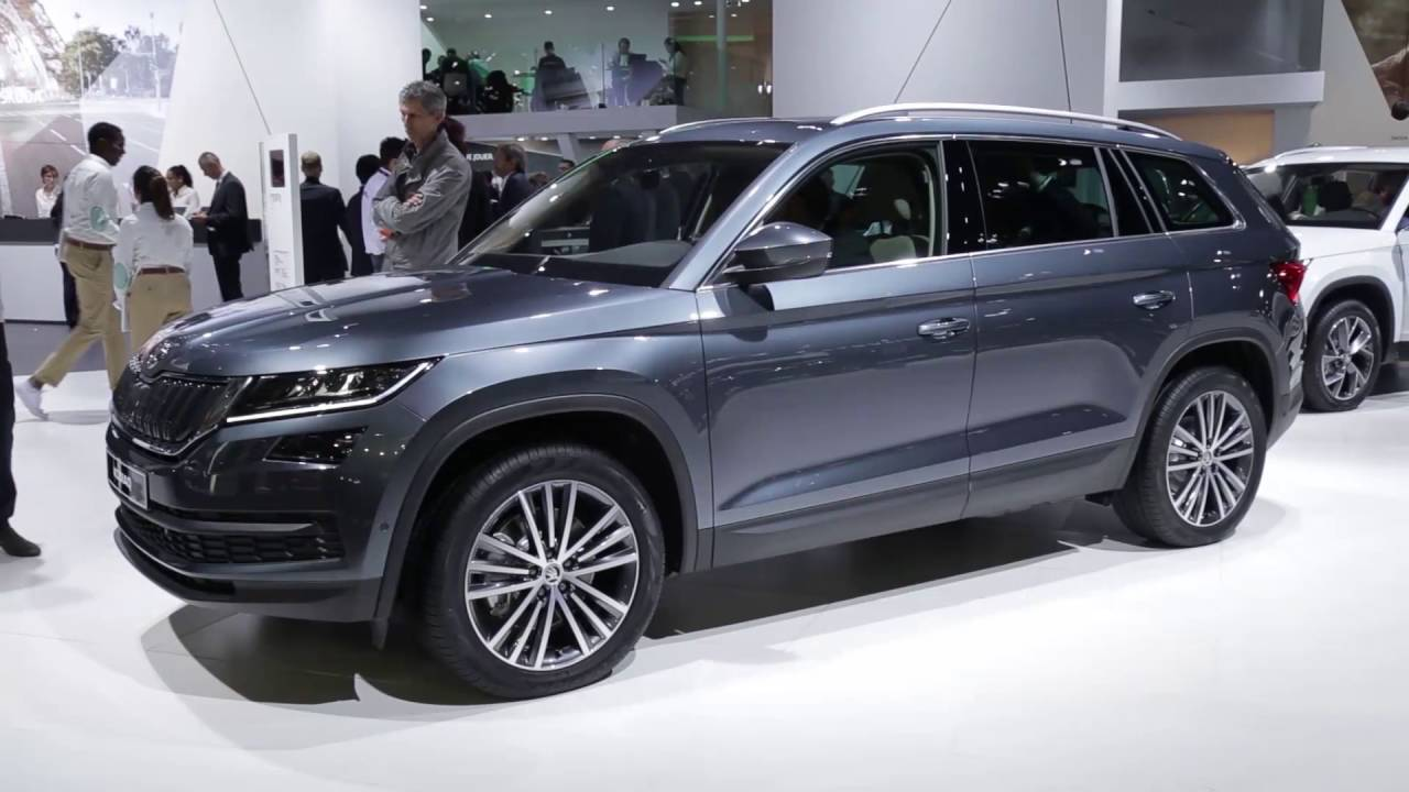 skoda kodiaq en direct du mondial de paris 2016 youtube. Black Bedroom Furniture Sets. Home Design Ideas