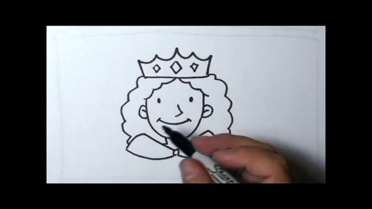 How To Draw Queen Youtube