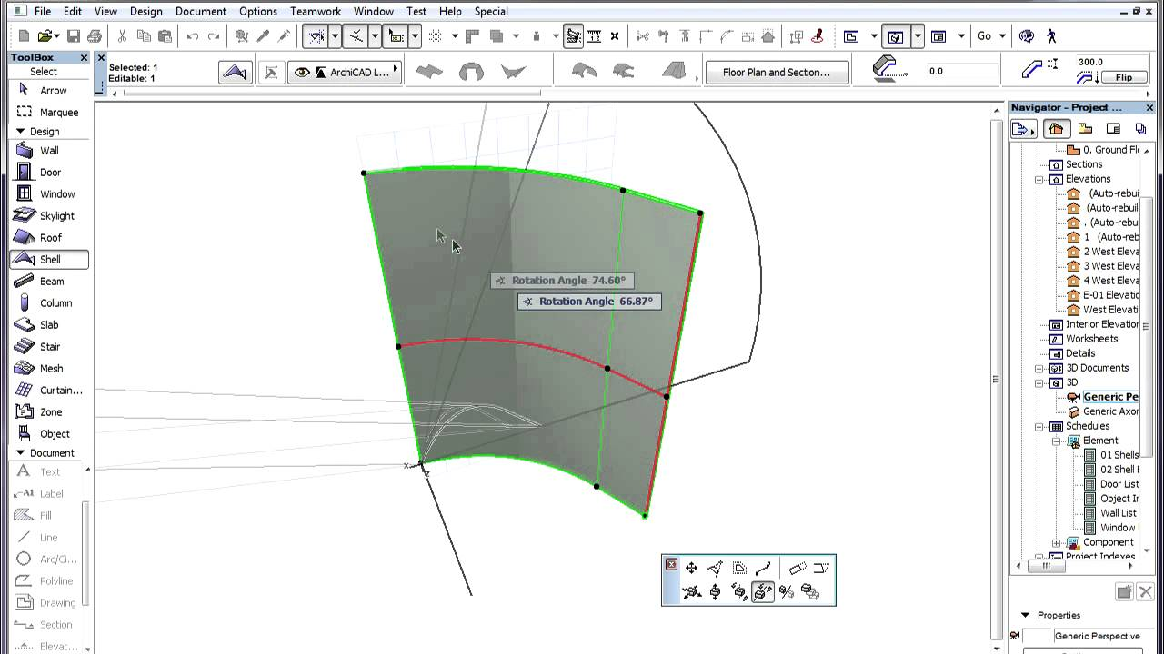 The Archicad Shell Tool Workflow For Using Shells To