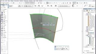 Archicad 15 - Shells - Workflow For Using Shells To Create Curved Roof Structures