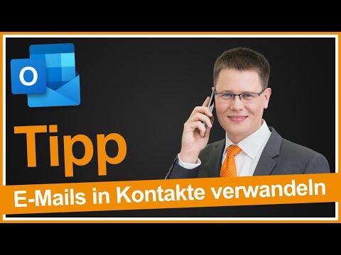 Outlook: E-Mails einfach in Kontakte umwandeln