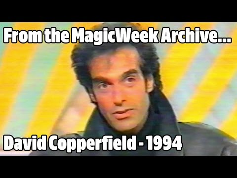 David Copperfield - Magician & illusionist - Pebble Mill - October 1994 - MagicWeek.co.uk