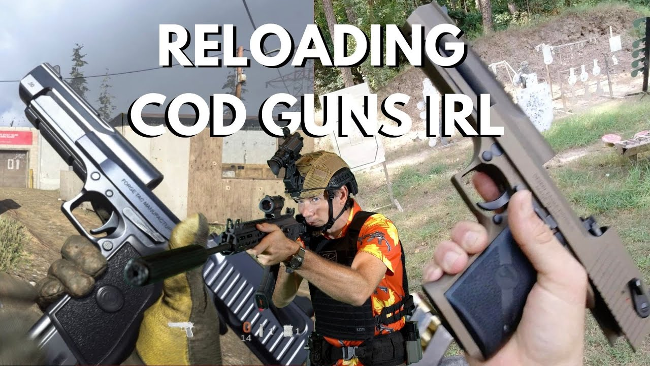 Man VS Machine - Real Life Operator Reloads VS Call of Duty Warzone