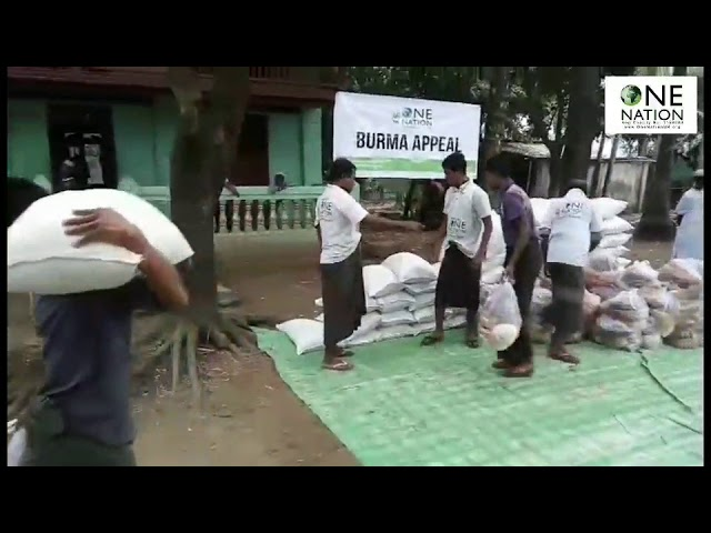 Food parcels provided to Rohingya families in Burma - December 2017
