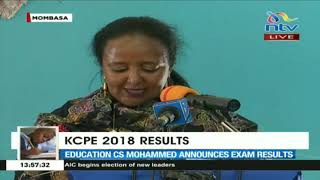 KCPE 2018 results: Education CS Amina Mohamed on exam cheating