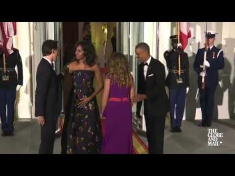 Justin and Sophie Trudeau arrive at White House for state dinner
