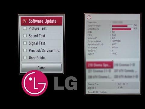 LG TV Diagnostic Menu / Software Update / Signal Strength And Quality