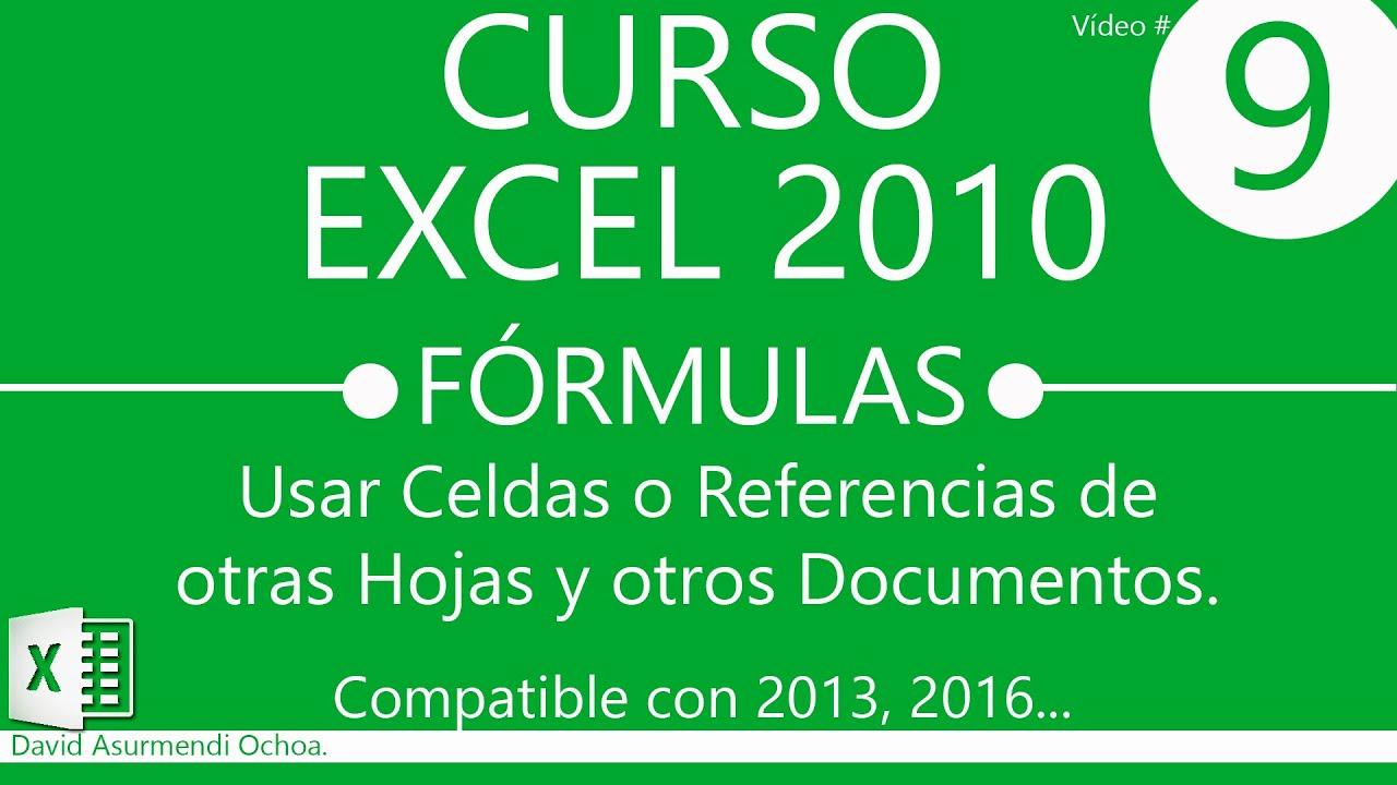 Curso excel 2010 f rmulas referencias a otras hojas y for Como hacer una nomina en excel con formulas