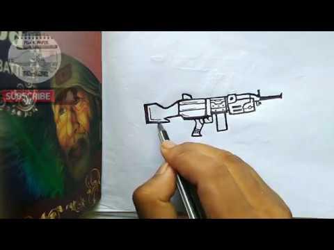 Weapons Pubg Gun Drawing Easy