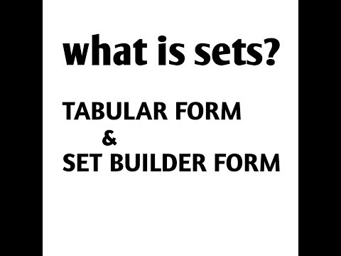 What Is Sets?  Form Of Sets Tabular And Set Builder Form Exercise#1.1