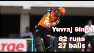 IPL10 2017: SRH vs RCB - Yuvraj Singh Fatest Half Century