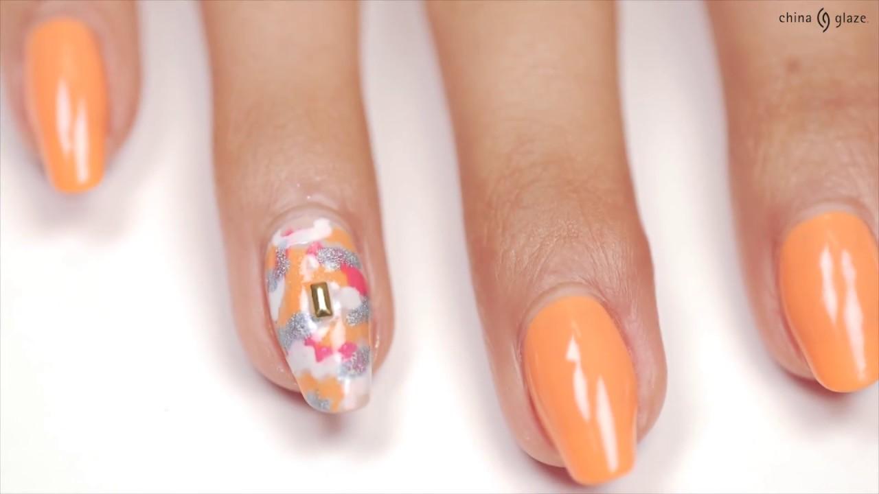 Ulta Exclusive Camo Formal Nail Art