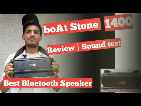 Boat Stone 1400 Review | Unboxing | sound test | outdoor Performance | Best Bluetooth speaker 5000
