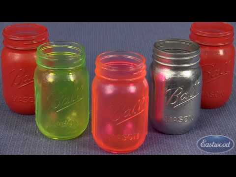 Powder Coating Glass For Home Projects - How To Hot Flock Glass Jars - Eastwood
