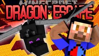 Minecraft DRAGON ESCAPE Parkour #13 with Vikkstar & Lachlan