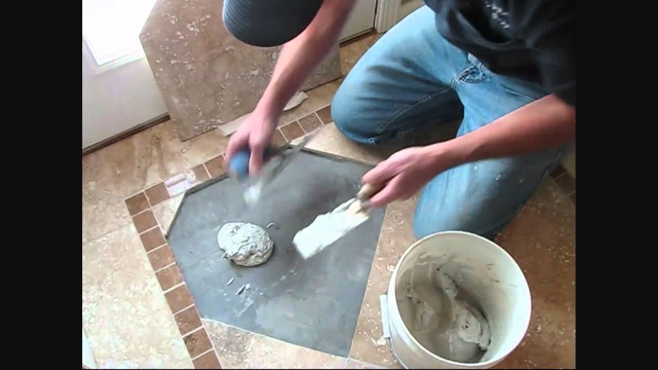 How to repair tile with floor heat - YouTube
