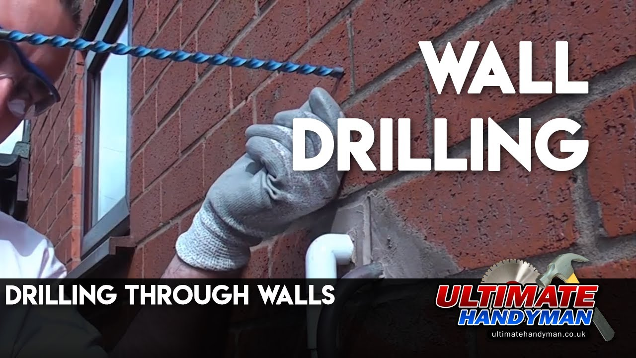 drilling through walls youtube rh youtube com wiring in exterior walls electrical wiring through exterior wall