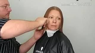 Видеоурок 14 Женская стрижка средней длины.