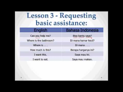 Learning Bahasa Indonesia for Dummies
