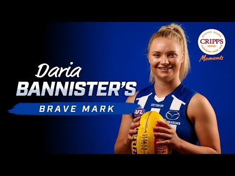 AFLW: Daria Bannister's brave mark - Cripps Moments (Round 7, 2019)