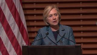 Hillary Clinton speaks at launch of Stanford's new digital policy program thumbnail