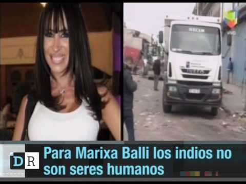 Para Marixa Balli los indios no son seres humanos