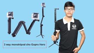 Gậy CHO GOPRO HERO monopod tripod stand 3-WAY