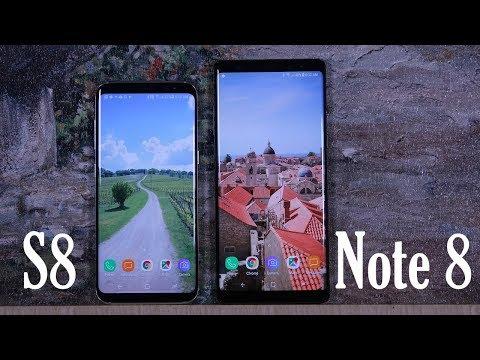 Samsung Galaxy Note 8 vs Samsung Galaxy S8 Full Comparison