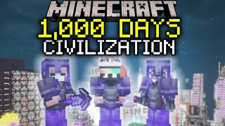 100 Players Simulate Civilization in Minecraft for 1000 Days [MOVIE]